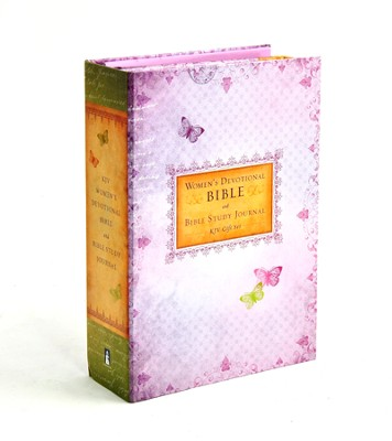 KJV Women's Devotional Gift Bible and Journal, lavender  -     Edited By: Ellie Claire