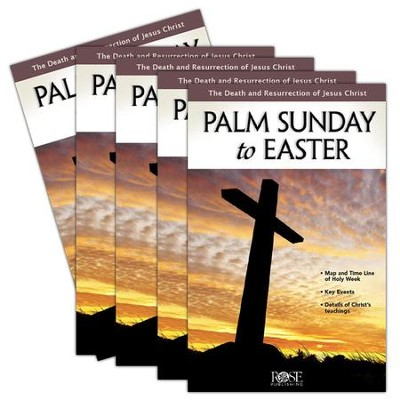 Palm Sunday to Easter Pamphlet - 5 pack  -