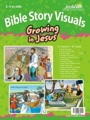 Growing in Jesus (ages 2 & 3) Bible Visuals   -