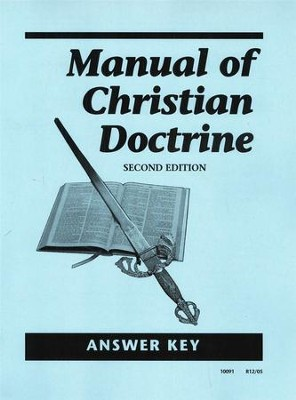Manual of Christian Doctrine Answer Key, Grades 11-12   -