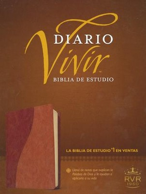 Biblia Diario Vivir RVR 1960, Piel Imit. Cafe/Cafe Claro  (RVR 1960 Life Appl. Bible, Imit. Leather Brown/Tan)  -