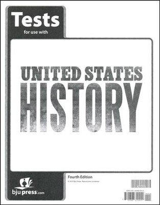 BJU U.S. History Grade 11 Test Pack (Fourth Edition)    -