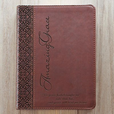 LuxLeather Journal, Amazing Grace, Brown  -