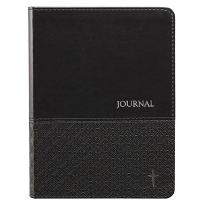 LuxLeather Journal, Cross, Black  -