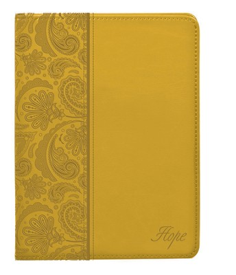 LuxLeather Journal, Hope, Yellow  -