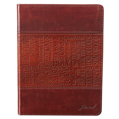 LuxLeather Journal, Names of Jesus, Tan  -