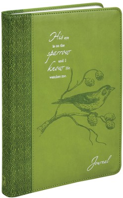Journal, His Eye is on the Sparrow, Green  -