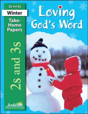 Loving God's Word (ages 2 & 3) Take-Home Papers   -