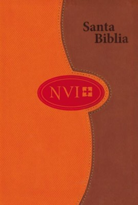NVI Larger Print Bible - DuoTone Honey/Orange - Spanish  -     By: Biblica