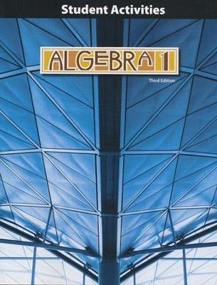 BJU Algebra 1 Grade 9 Student Activities Manual (Third Edition)    -