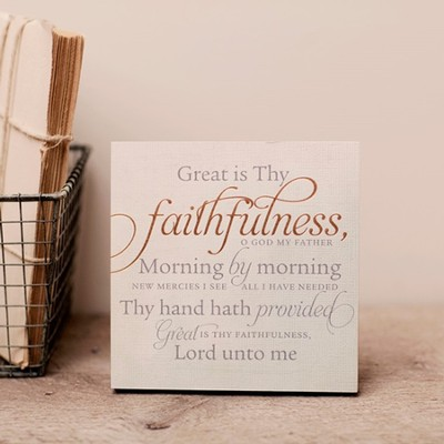 Great Is Thy Faithfulness, Desktop Plaque  -