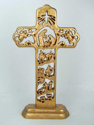 Nativity Table Cross  -