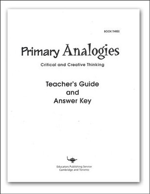 Primary Analogies, Book 3, Teacher's Guide   -