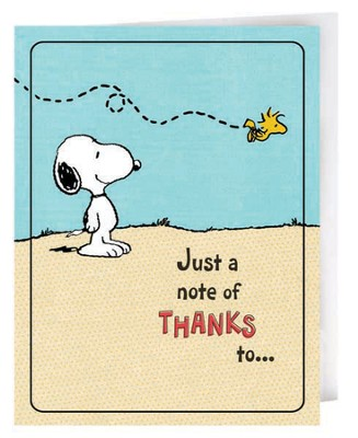 Peanuts Thank You Notes, Package of 8  -