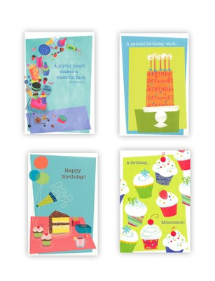Sweet Treats Birthday Cards, Box of 12  -