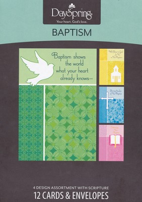 Baptism Shows the World Cards, Box of 12  -