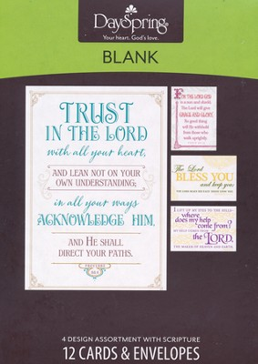 Trust in the Lord, Blank Cards, Box of 12  -