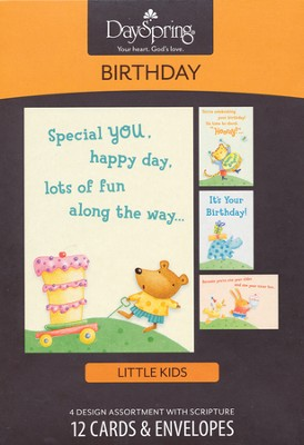 Special You, Happy Day Kids Birthday Cards, Box of 12  -