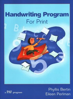 Handwriting Program for Print   -     By: Phyllis Bertin, Eileen Perlman