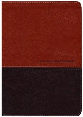 NKJV Life Application Study Bible, TuTone Leatherlike Brown/Tan  -