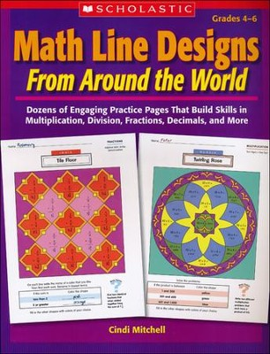 Math Line Designs From Around the World: Grades 4-6  -     By: Cindi Mitchell