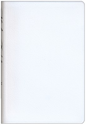 NIV Compact Thinline Bride's Bible, White Bonded Leather  1984 - Imperfectly Imprinted Bibles  -