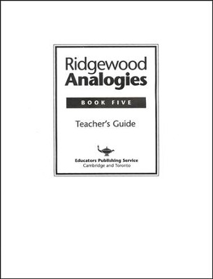 Ridgewood Analogies, Book 5 Guide  -