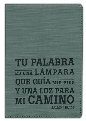 Edici&#243n compacta NTV SentiPiel Salmo 119:105 Carb&#243n, NTV Compact Bible: Cover with Psalm 119:105 Charcoal Leatherlike  -