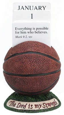 Basketball Scripture Holder Calendar  -