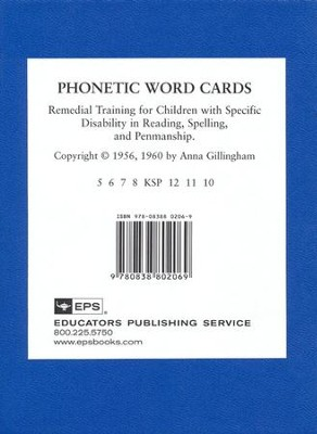 Phonetic Word Cards   -     By: Anna Gillingham, Bessie W. Stillman