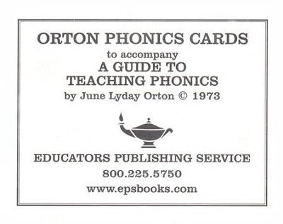 Orton Phonics Cards   -     By: Judy Lyday Orton