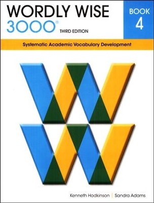 Wordly Wise 3000 Student Book Gr 4, 3rd Edition   -     By: Kenneth Hodkinson, Sandra Adams