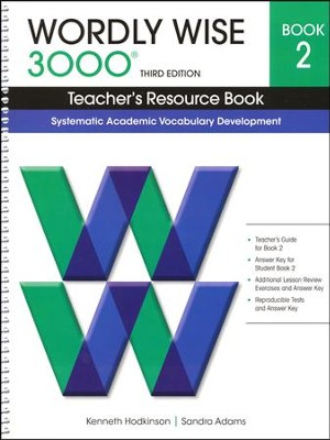 Wordly Wise 3000 Teacher's Resource Book, Grade 2, 3rd Edition  -     By: Kenneth Hodkinson, Sandra Adams