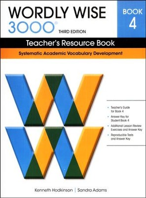 Wordly Wise 3000 Teacher's Resource Book 4, 3rd Edition   -