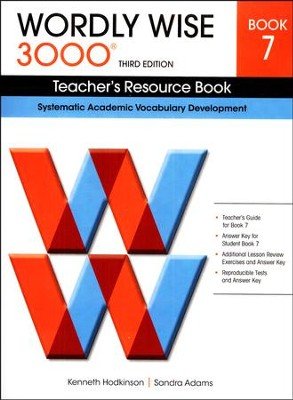 Wordly Wise 3000 Teacher's Resource Book 7, 3rd Edition   -