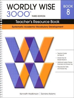 Wordly Wise 3000 Teacher's Resource Book 8, 3rd Edition   -