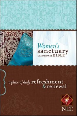 NLT Women's Sanctuary Devotional Bible, Hardcover  -