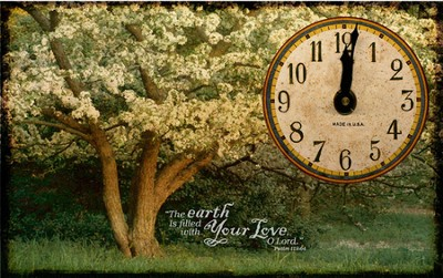 The Earth Is Filled With Your Love Clock  -