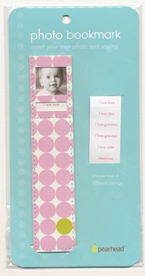 Photo Bookmark Baby Girl Pink   -