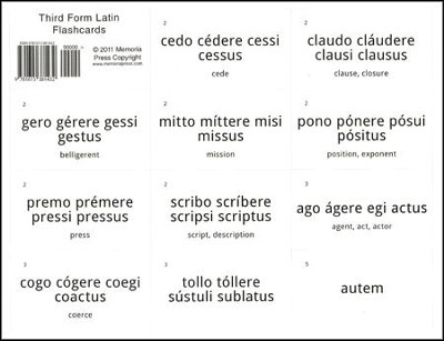 Third Form Latin, Flashcards  -     By: Cheryl Rowe