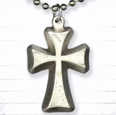 Cross on Bead Chain Pendant  -
