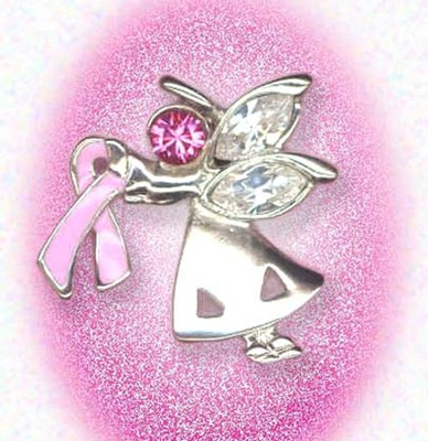 Breast Cancer Angel Lapel Pin  -