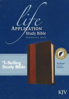 KJV Life Application Study Bible, Personal Size, Brown/Tan Indexed Leatherlike  -