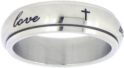 True Love Waits, Spin Ring, Crosses, Size 11  -