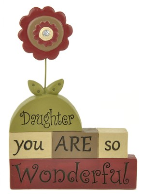 Daughter, You Are So Wonderful, Block Figure  -