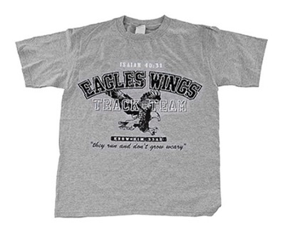 Eagle's Wings Shirt, Gray, Youth Extra Small  -