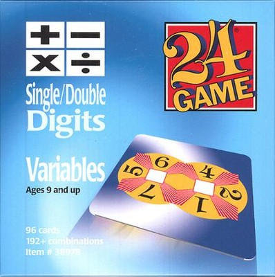 24 Game: Variables (96 Cards)  -