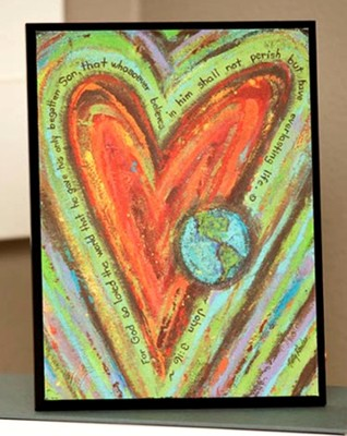 Heart and Globe Art Plaque   -