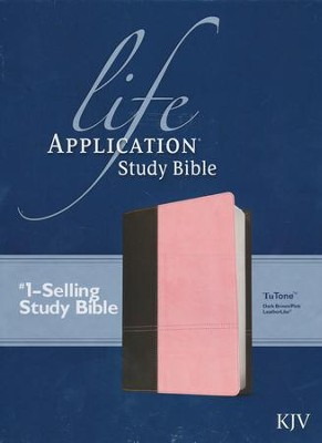 KJV Life Application Study Bible, TuTone Dark Brown/Pink Leatherlike  -