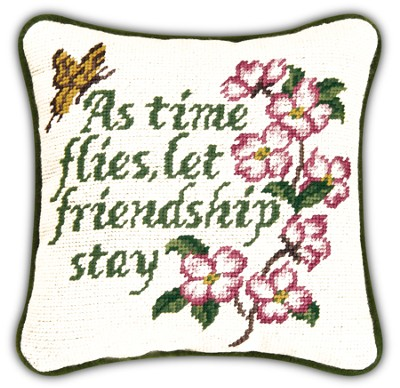 As Time Flies Let Friendship Stay Pillow  -